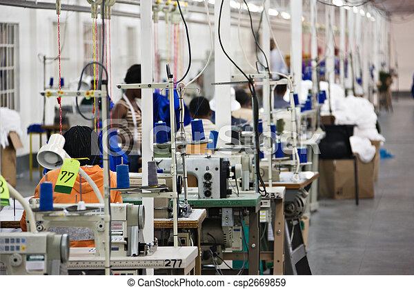 Industrial textile factory - csp2669859