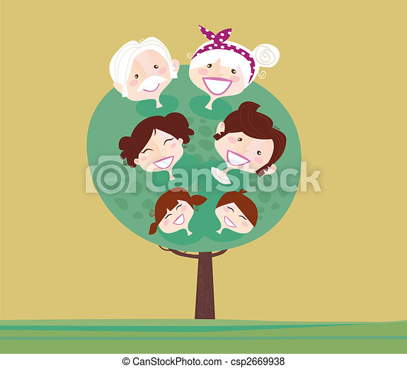 Big family generation tree - csp2669938