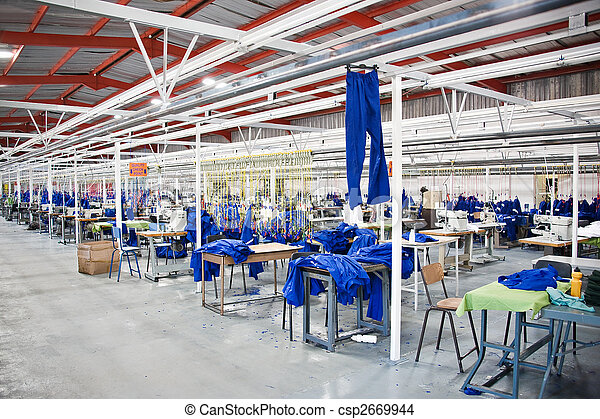 Industrial textile factory - csp2669944