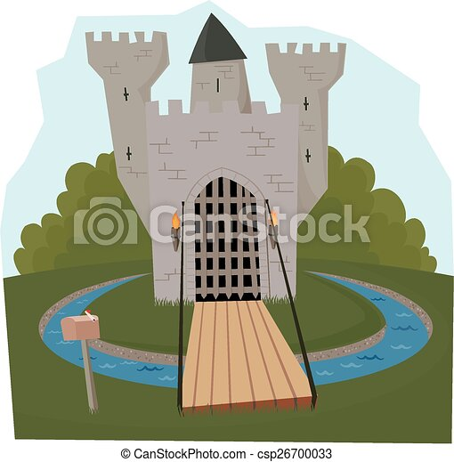 Castle Moat Drawing Castle And Moat Csp26700033