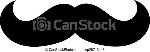 mustache silhouette - csp26713448