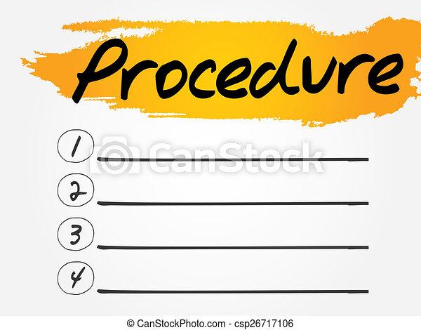 illustration de proc233dure vide liste vecteur concept