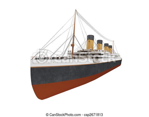 Big ship liner front view - csp2671813
