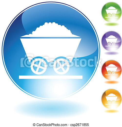coal crystal icon - csp2671855