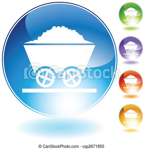 coal crystal icon - csp2671855