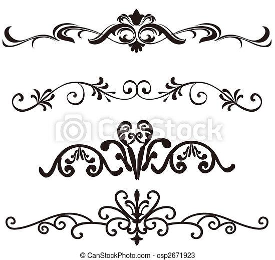 Flower Pattern Drawing Flower Pattern Csp2671923