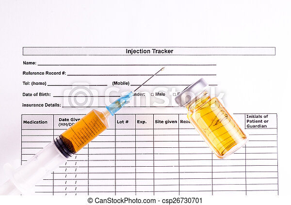 Syringe, Vial and injection Tracker