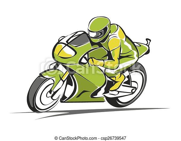 Motor race vector - csp26739547
