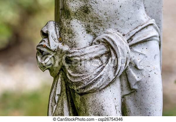 sculpture in a cemetery