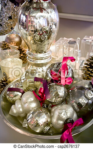 silver christmas decoration - csp2676137