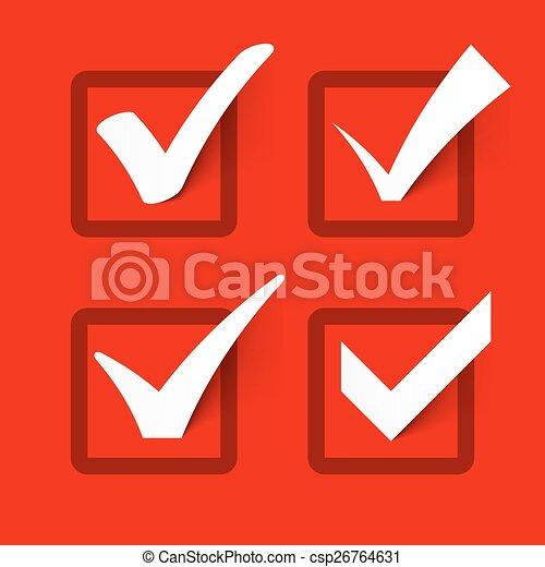 Check marks - csp26764631