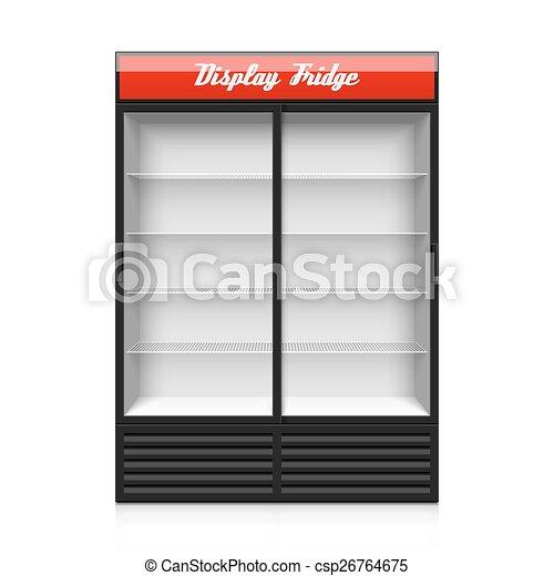 Glass Doors Clipart vectors illustration of glass door display fridge illustration