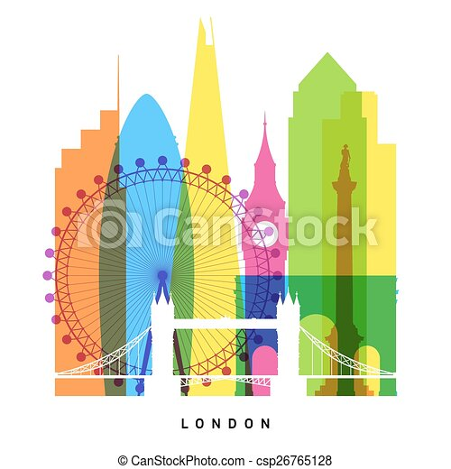 London landmarks bright collage  - csp26765128