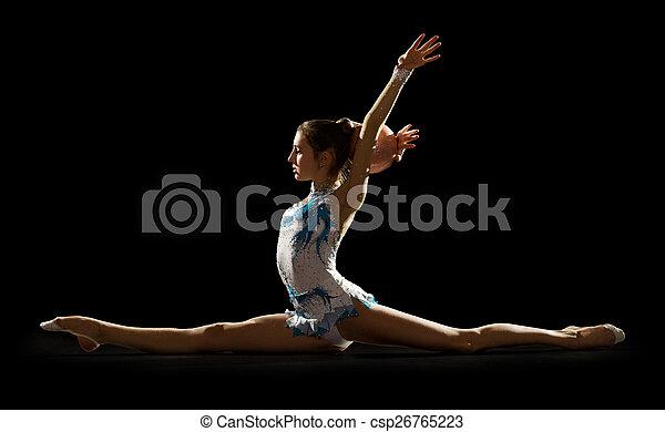 Girl engaged art gymnastic