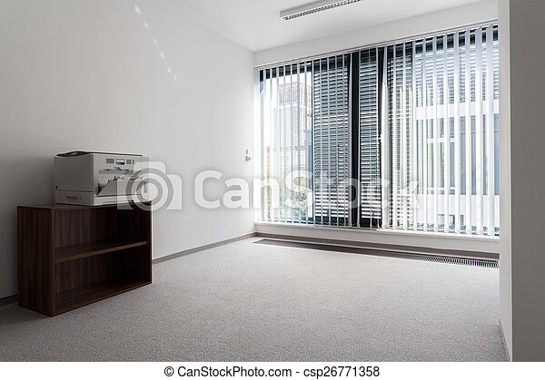 Office room with printer