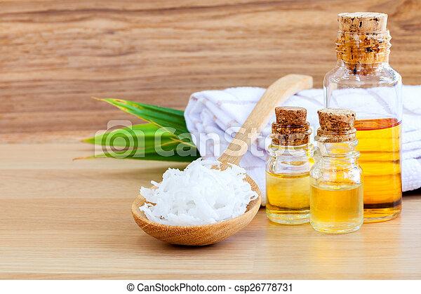 Natural Spa Ingredients . - Coconut essential Oil for alternativ