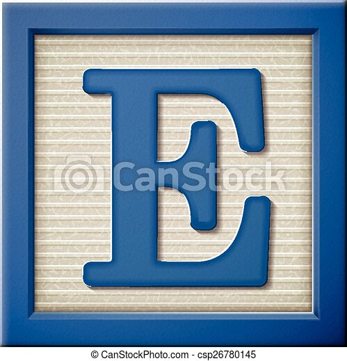 e block letter eps vector of 3d blue letter block e up look at 3d 21427 | can stock photo csp26780145