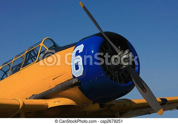 Vintage WW II Airplane - csp2679251