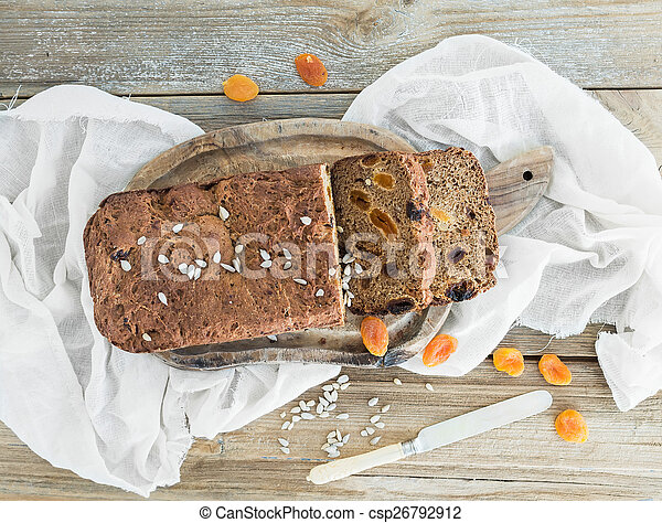 Stock Photography of Home-made whole grain bread with ...