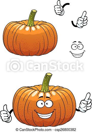 Gemüse, Lustiges, Zeichen, Karikatur, Kã¼rbis Vektor