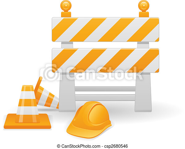 Under Construction vector image - csp2680546