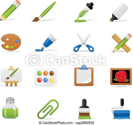 Painting icons set - csp2680552