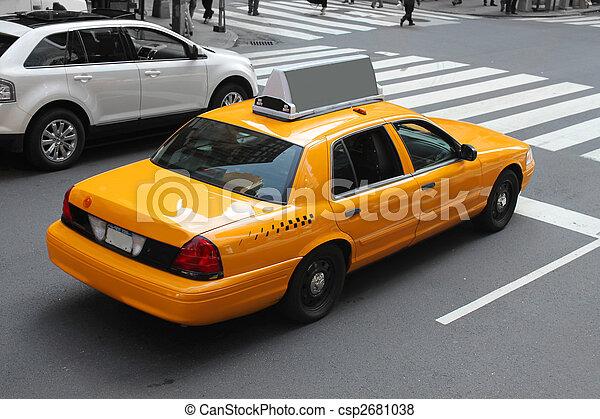 Novo, cidade,  York, táxi - csp2681038