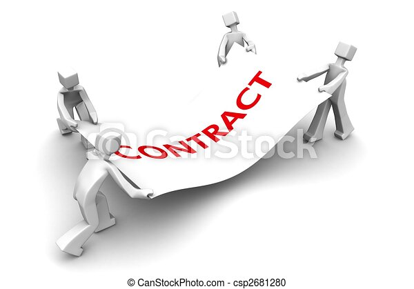 Competitor fight for business contract - csp2681280