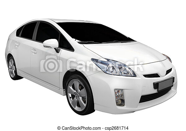 white hybrid car - csp2681714