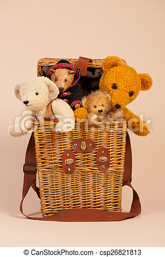 Bears in toy box