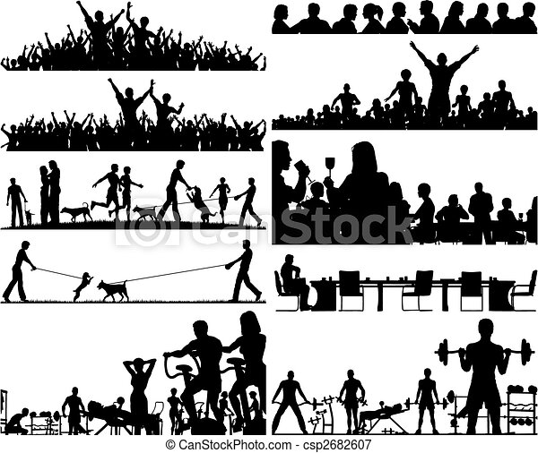 People foregrounds - csp2682607