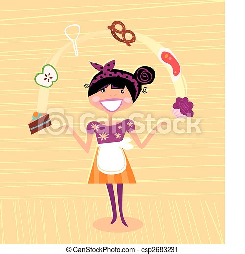 Mother - kitchen super hero - csp2683231