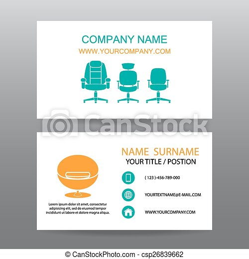 Business card vector background,Home Office - csp26839662