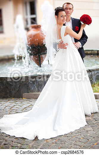 Young wedding couple - csp2684576