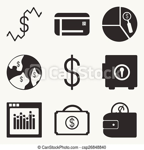 Eps vector of flat in black and white concept mobile application economics csp26848840 - Mobil home economicos ...