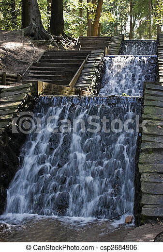 Waterfall in the forest - csp2684906