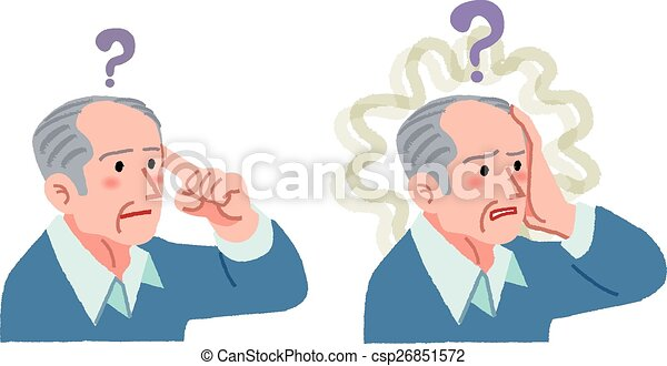 senior man with gesture of having forgotten something - csp26851572