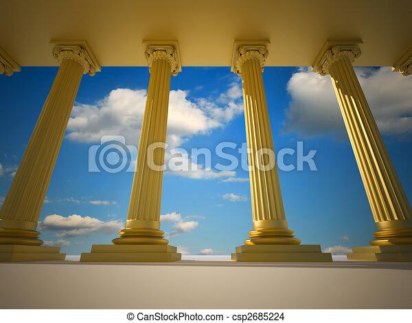 Roman columns - csp2685224