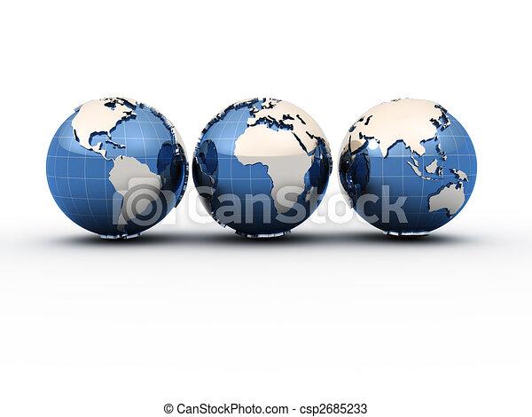 Earth globes - csp2685233