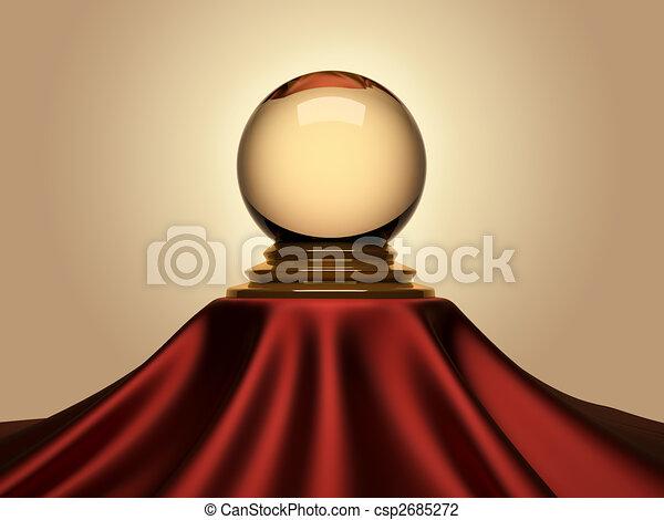 Magic crystal ball - csp2685272