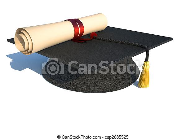 Graduation cap - csp2685525