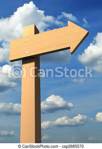 Direction sign - csp2685570