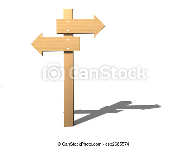 Direction sign - csp2685574