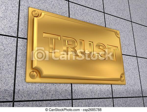 Trust sign - csp2685788