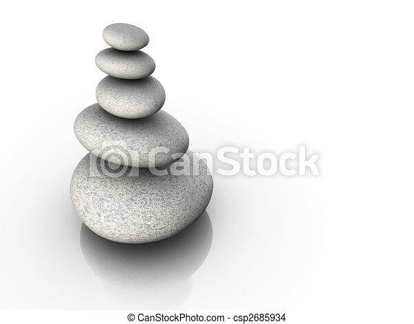 Stone tower in balance - csp2685934