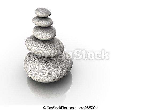 Stone tower in balance - csp2685934