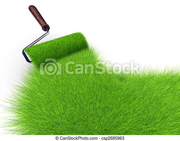 Grass paint - csp2685963