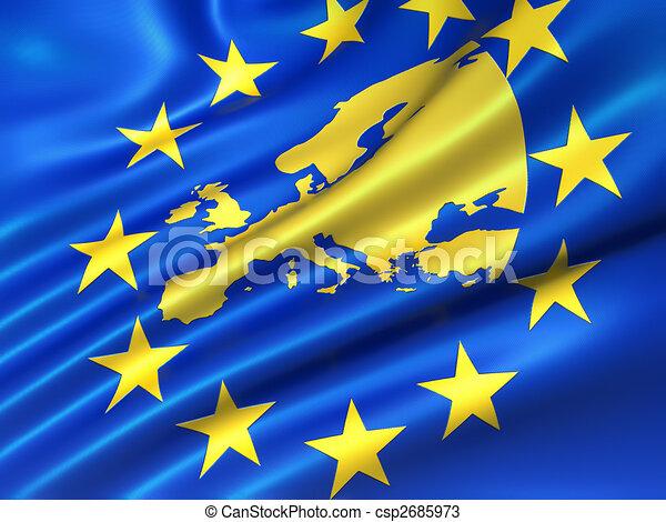 European Uniion flag - csp2685973