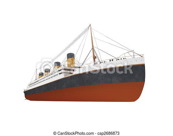 Big ship liner front view - csp2686873