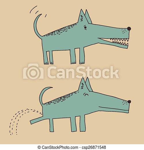 Cartoon dog peeing - csp26871548
